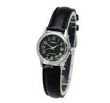 -Casio LTPV002L-1B Ladies' Leather Fashion Watch Brand New & 100% Authentic