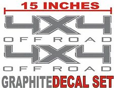 4x4 OFF ROADTruck Bed Decals GRAPHITE METALLIC (Set) for Ford F-150 & Super Duty