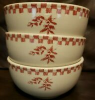 Set of 3 BONJOUR Chanticleer Country Red Hen Soup or Cereal Bowl. French Farm