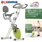 Heavy Duty Exercise Bike Folding Fitness Cardio Machine Workout Bicycle UK