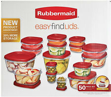 Rubbermaid 50-Piece Easy Find Lids Food Storage Container Set