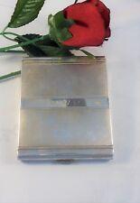 Vintage Art Deco Alpaca Silver Cigarette Case Monogrammed WWR Great Collectible