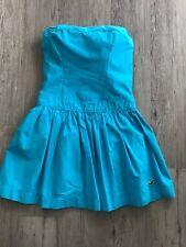 Sommerliches Hollister Kleid Blau Gr. S/M Trägerlos, Kurz