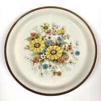 Vintage Nitto Heather Stone Old Garden 9804 Japan Floral Dinner Plate Oven Safe