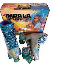 Impala Holographic rainbow roller skates Size 8 w box cute