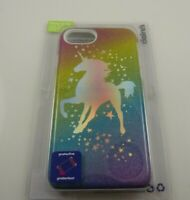 Fits Iphone 6 , 7 & 8  phone case silver gliittery Unicorn cover stars