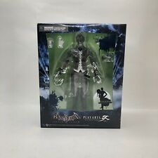 BATMAN ARKHAM ASYLUM PLAY ARTS KAI  NO.2 THE JOKER FIGURE Black And White Rare