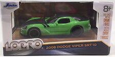 Jada Lopro 2008 Dodge Viper SRT10 Scale 1:64 - Green
