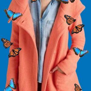 Anthropologie Moth Boiled Wool Sweater Coat  S