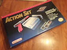 orange NES Action Set nintendo system complete in box with all original pieces