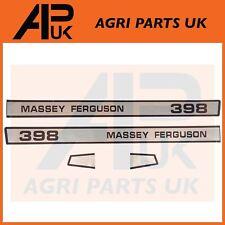 Massey Ferguson 398 Tractor Bonnet lado Calcomanía Pegatinas Transferencias Set Kit