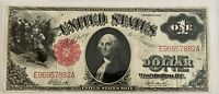 HIGH GRADE 1917 RED SEAL U.S LEGAL TENDER NOTE, SEE OTHER PAPER CURRENCY & COINS