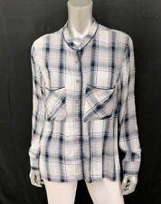 MELISSA MCCARTHY SEVEN7 NWT Gray Plaid Short Button Front Shirt Plus sz 1X