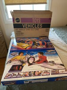 lot of 2 Hot Wheels Turbo Glow Turbo Tunnel Race Track Set Factory Sealed