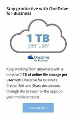 Microsoft OneDrive for Business - Lifetime 1TB  (1000GB) Storage Cloud space