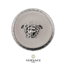 Auth Versace Classic Platinum & Crystal Medusa Medallion 68100350 NEW IN BOX