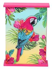 Pink Wooden Parrot Style Wall Hanging Key Box