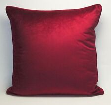 Plain Piped Velvet Cushion Covers Large 22in x 22in Standard 17in x 17in