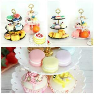 3-Layer Fruit Tray Dessert Stand Rack Cake Wedding Plate Birthday Display H1I6