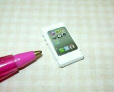 "Miniature BARBIE Cell Phone (A), Metal (3/4"" x 3/8""): DOLLHOUSE 1:6 Playscale"