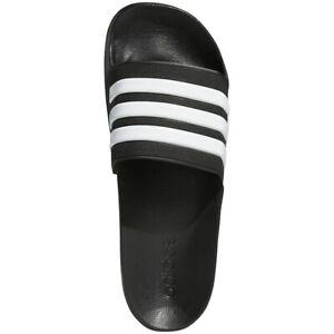 Mens Adidas Adilette Shower Black White Slides Athletic Sandal AQ1701 Sizes 9-11