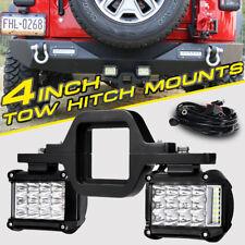 "4"" Side Shooter CREE LED Light Pods Trailer Tow Hitch Mount Bracket Holder Truck"