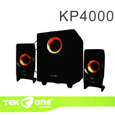 Casse Speaker Multimediale 2.1 Altoparlanti Subwoofer Usb Pc hsb TeKone KP4000