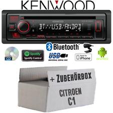 Kenwood Autoradio pour Citroën C1 Bluetooth Spotify CD/MP3/USB