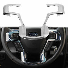 Fit Ford F150 Steering Wheel Moulding Chrome Cover trims Accessories 2015-2018