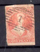 New Zealand QV 1857 1d dull orange fine used 4 margins SG8 WS21181