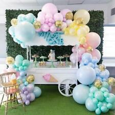 DIY Pastel Matte Rainbow Balloon Garland Kit Gold Confetti Balloons- Decorations