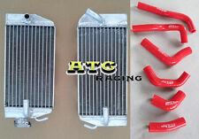 Honda CRF450R CRF 450 R 02 03 04 2002 2003 2004 aluminium radiator + hose