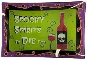 Ganz Glass Spooky Platter, Choose Your Style (EH19122)