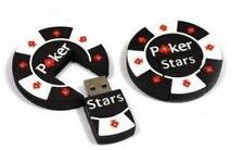 Poker Stars Chip mit USB Stick 2 GB 2GB Flash Drive GADGET Witzig Geschenk NEU
