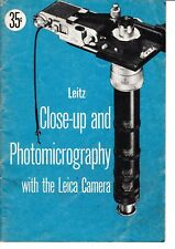 GENUINE 1960's LEITZ NEW YORK LEICA CLOSE -UP PHOTOGRAPHY BROCHURE 48 PAGES