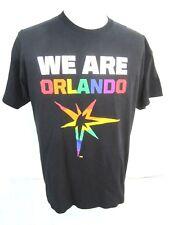 Gay Pride T Shirt We Are Orlando florida rainbow starburst Pulse Strong