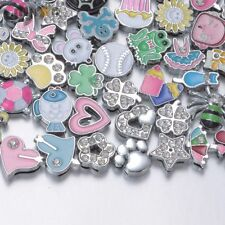 20pcs/lot 8mm Mix Styles DIY Accessories Metal Charms For Bracelet Jewelry