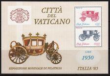 VATICAN 1985 ITALIA'85 HORSE CARRIAGE PFERDEWAGEN CALÈCHE CARROZZA #8501