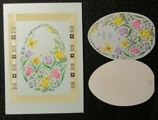 """EASTER Yellow Chick Butterfly & Flowers 8x11"""" Greeting Card Art #2729 w/ 4 Cards"""