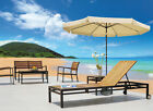 10 Ft Patio Umbrella Aluminum Crank Tilt Outdoor Yard Beach With Valance