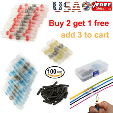 Sopoby Solder Seal Heat Shrink Butt Wire Connectors 50 Pieces