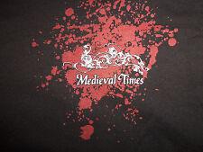 Medieval Times Dinner & Tournament Sword Black Graphic T Shirt - L