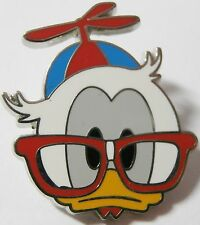 Disney Pin Donald Nerds Rock! Head Collection Red Glasses Ship Free After 1st 1