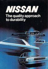 Nissan Datsun Anti Corrosion Protection 1983 UK Market Foldout Brochure