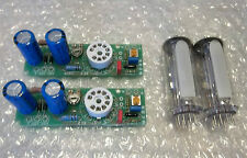 2x vu meter vumeter EM84 PAIR vacuum tubes 6E2 module circuits