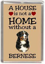 "Bernese Mountain Dog Fridge Magnet ""A HOUSE IS NOT A HOME"" by Starprint"