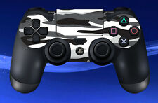 2 x PS4 PLAYSTATION WHITE CAMOUFLAGE PATTERN CONTROL PAD DECAL STICKERS