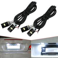4Pcs Universal Motorcycle Screw SMD LED Bolt Lamp White Car License Plate Light