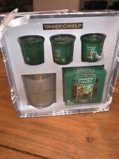 Yankee Candle BALSAM & CEDAR Tea lights Votives Holder Lodge Home Decor GIFT SET