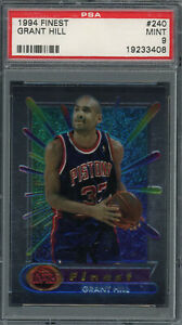 Grant Hill Pistons 1994 Topps Finest Basketball Rookie Card #240 PSA 9 MINT
